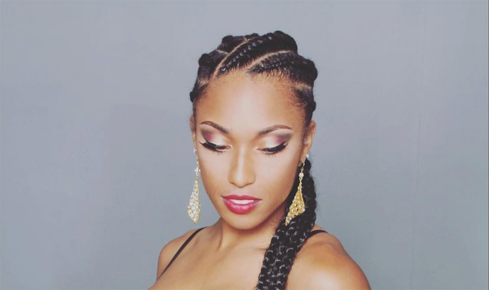 22 Next Level Goddess Braids To Inspire Your Look – Thefashionspot Pertaining To Braided Maze Low Ponytail Hairstyles (View 4 of 25)