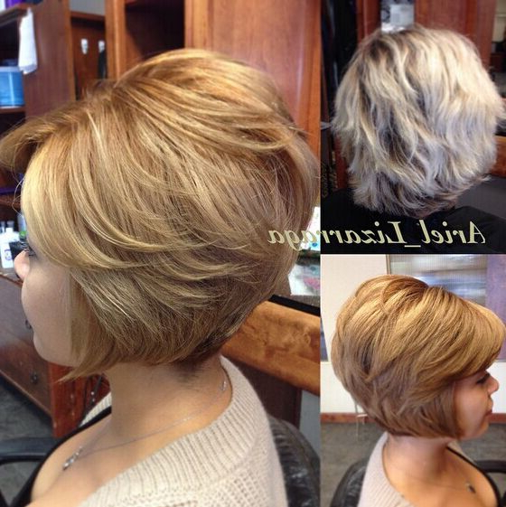 22 Popular Bob Haircuts For Short Hair – Pretty Designs Throughout Classic Layered Bob Hairstyles For Thick Hair (View 10 of 25)