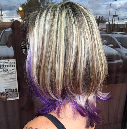 22 Sassy Purple Highlighted Hairstyles (For Short, Medium, Long Hair Intended For Choppy Brown And Lavender Bob Hairstyles (View 10 of 25)