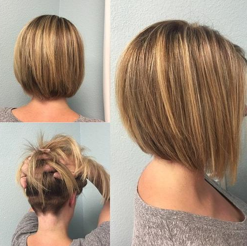 22 Stylish Lob Haircuts For A New Style: Shoulder Lenght Hair Styles For Razored Brown Bob Hairstyles (View 16 of 25)