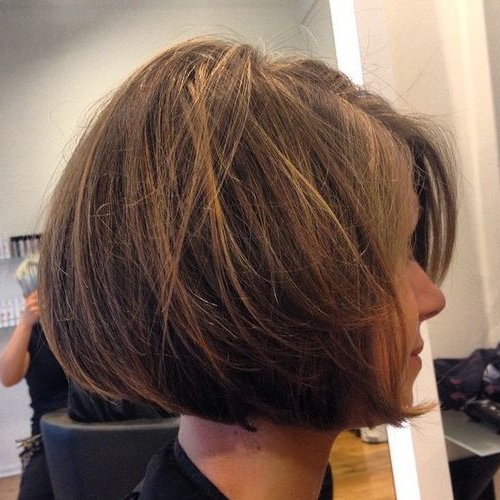 22 Stylish Lob Haircuts For A New Style: Shoulder Lenght Hair Styles In Tousled Razored Bob Hairstyles (View 9 of 25)