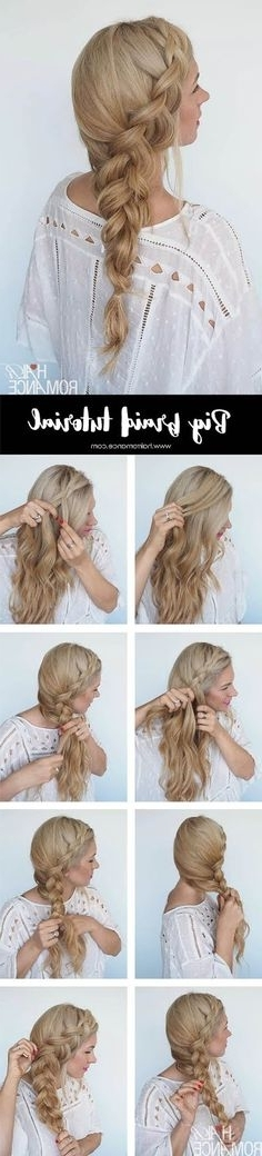 227 Best Hairstyles Images On Pinterest In 2018 | Hairstyle Ideas Pertaining To Braided Maze Low Ponytail Hairstyles (View 14 of 25)