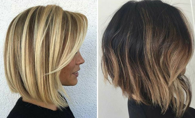 23 Best Bob And Lob Haircuts For Summer 2018 | Page 2 Of 2 | Stayglam Within Choppy Brown And Lavender Bob Hairstyles (View 13 of 25)