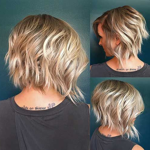 23+ Best Layered Bob Haircuts Ideas For 2018 – 2019 | Hair Styles Pertaining To Messy Jaw Length Blonde Balayage Bob Haircuts (View 20 of 25)