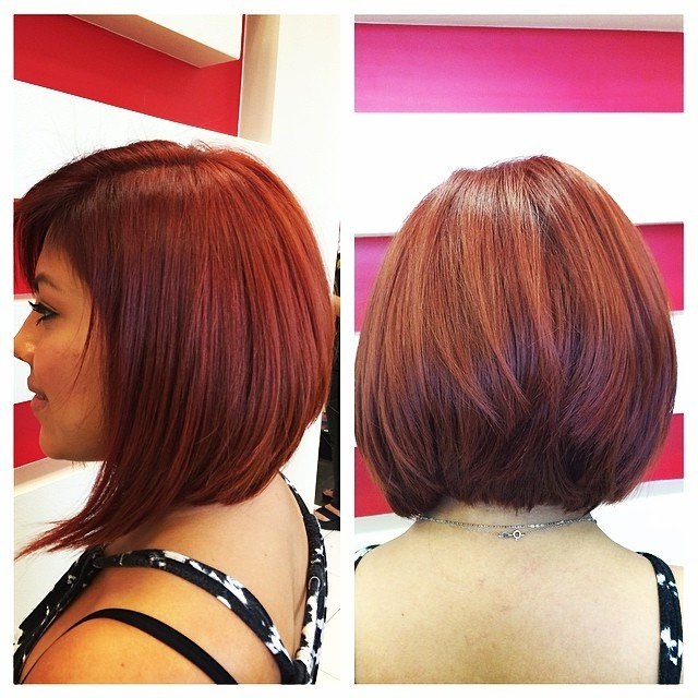 23 Cute Bob Haircuts & Styles For Thick Hair: Short, Shoulder Length In Angled Bob Hairstyles For Thick Tresses (View 14 of 25)