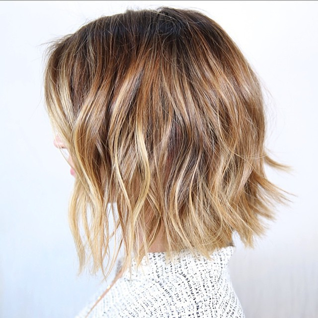 23 Cute Bob Haircuts & Styles For Thick Hair: Short, Shoulder Length Inside Messy Jaw Length Blonde Balayage Bob Haircuts (View 10 of 25)