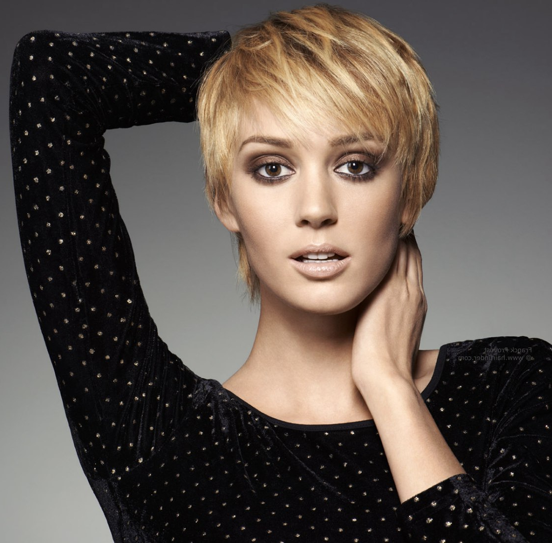 23 Cute Short Hairstyles (With Bangs)   Styles Weekly Inside Very Short Haircuts With Long Bangs (View 4 of 25)