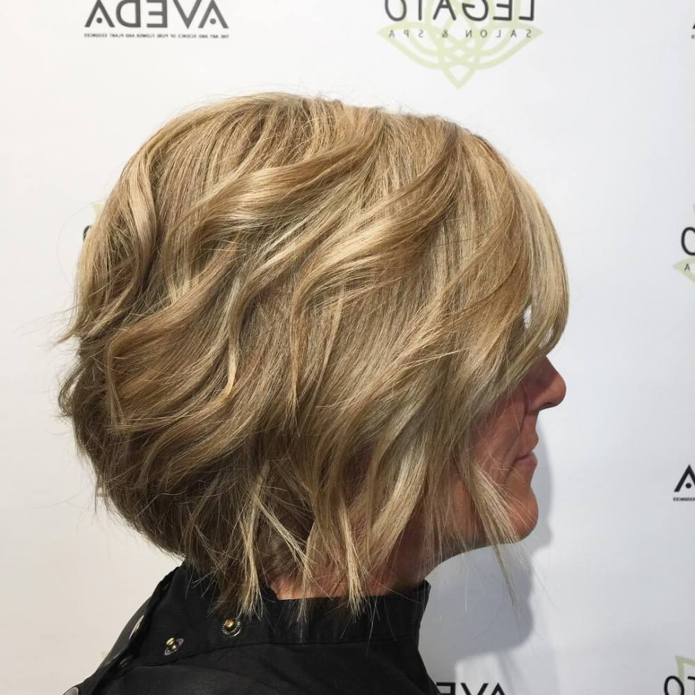 23 Perfect Hairstyles For Fine Hair In 2018 Pertaining To Angelic Blonde Balayage Bob Hairstyles With Curls (View 17 of 25)