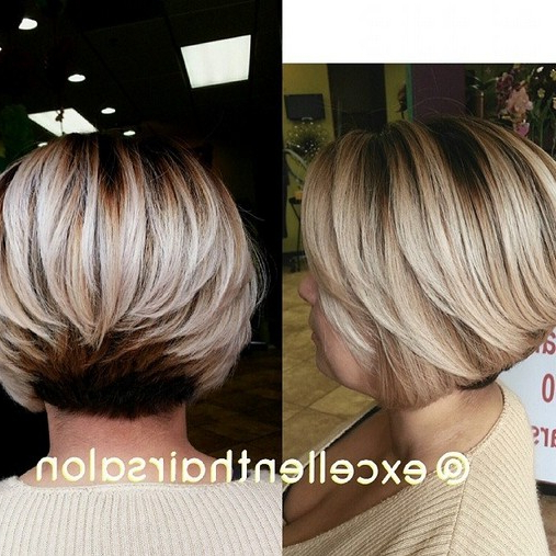 23 Stylish Bob Hairstyles 2017:easy Short Haircut Designs For Women Intended For Classic Layered Bob Hairstyles For Thick Hair (View 6 of 25)