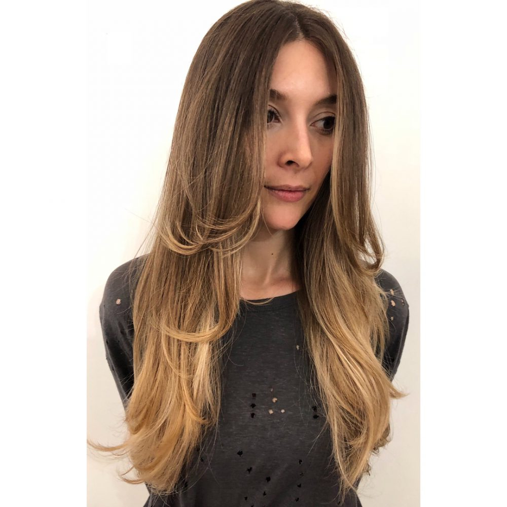 24 Flattering Middle Part Hairstyles In 2018 Inside Center Part Short Hairstyles (View 13 of 25)