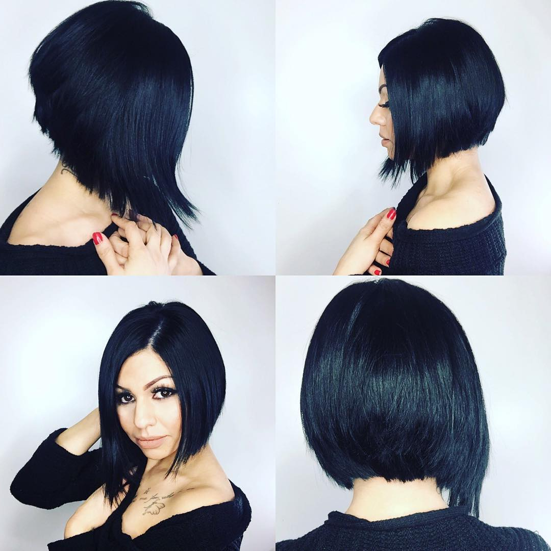 24+ Stacked Bob Haircut Ideas, Designs | Hairstyles | Design Trends With Black Bob Short Hairstyles (View 15 of 25)