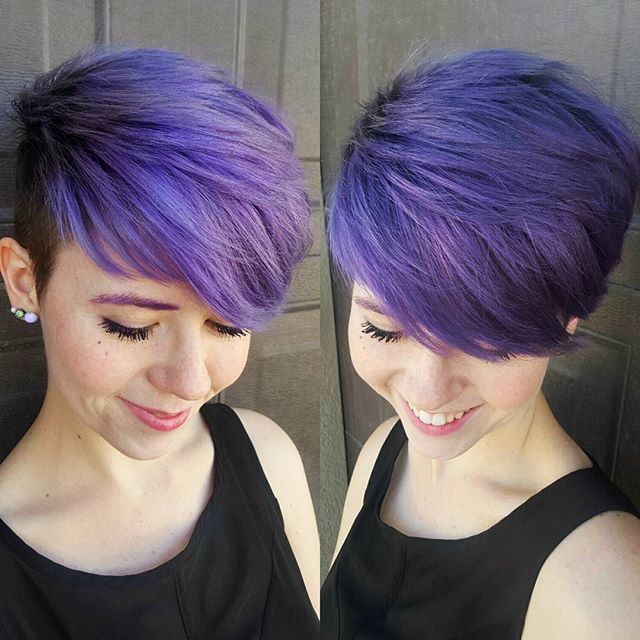 25 Amazing Short Pixie Haircuts & Long Pixie Cuts For Women 2017 Pertaining To Edgy Purple Tinted Pixie Haircuts (View 10 of 25)