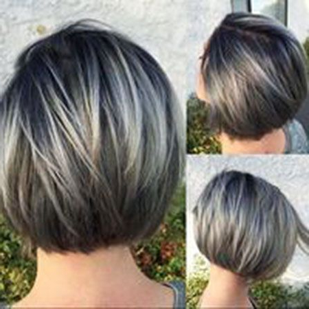 25 Best Short Straight Layered Bob Hairstyles | Hair Cuts Within Short Razored Blonde Bob Haircuts With Gray Highlights (View 5 of 25)