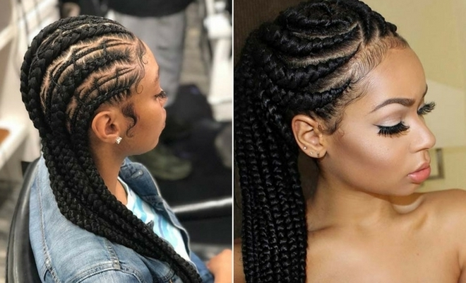 25 Best Ways To Rock Feed In Braids This Season | Page 2 Of 2 | Stayglam With Trendy Two Tone Braided Ponytails (View 5 of 25)