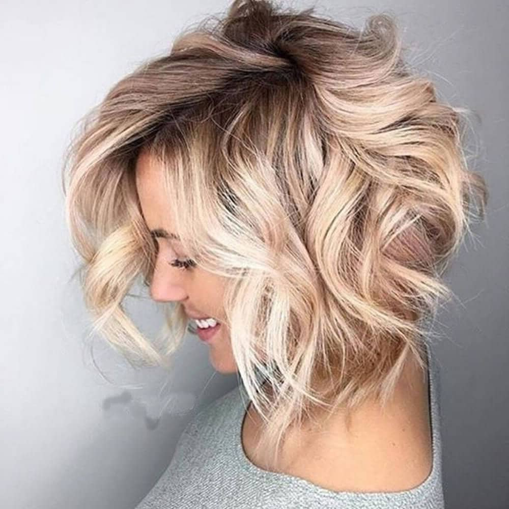 25 Blonde Balayage Short Hair Looks You'll Love Regarding Angelic Blonde Balayage Bob Hairstyles With Curls (View 18 of 25)