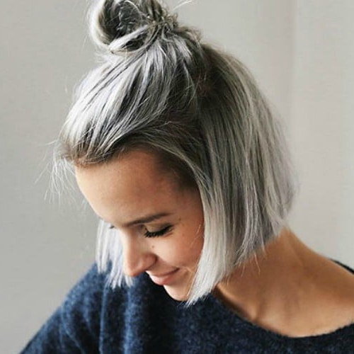 25 Chic Short Hairstyles For Thick Hair – The Trend Spotter With Smooth Bob Hairstyles For Thick Hair (View 22 of 25)