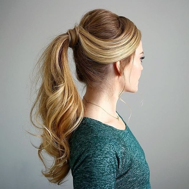 25 Cool High Ponytail Hairstyles — More Ideas To Try! Throughout Long Elegant Ponytail Hairstyles (View 18 of 25)