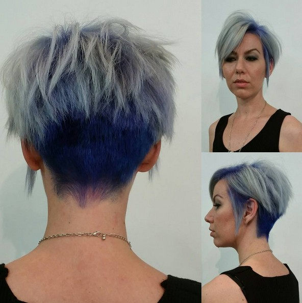 25 Cute Balayage Styles For Short Hair – Popular Haircuts Within Edgy Purple Tinted Pixie Haircuts (View 12 of 25)