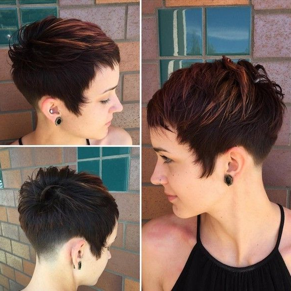 25 Cute Balayage Styles For Short Hair | Short Haircuts I Love Pertaining To Textured Undercut Pixie Hairstyles (View 6 of 25)
