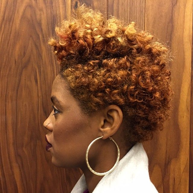 25 Cute Curly And Natural Short Hairstyles For Black Women | Styles Intended For Blonde Bob Hairstyles With Tapered Side (View 20 of 25)
