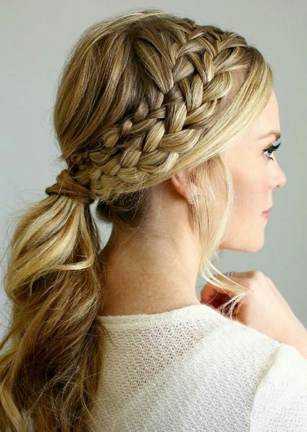 25 Easy Ponytail Hairstyles To Try This Summer || Tips For Perfect Within French Braid Ponytail Hairstyles With Bubbles (View 13 of 25)