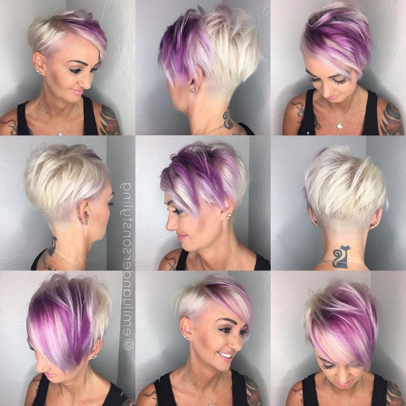 25 Edgy Pixie Undercut Ideas To Try Right Now! [October, 2018] For Edgy Purple Tinted Pixie Haircuts (View 13 of 25)
