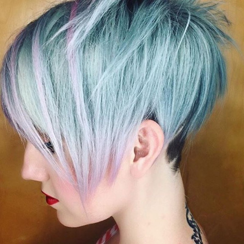 25 Edgy Pixie Undercut Ideas To Try Right Now! [October, 2018] Inside Edgy Purple Tinted Pixie Haircuts (View 14 of 25)