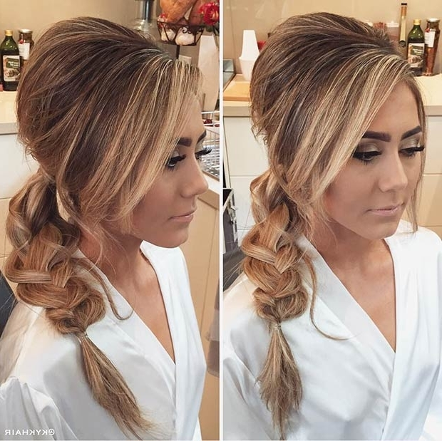 25 Elegant Ponytail Hairstyles For Special Occasions | Page 2 Of 3 For Braided Crown Pony Hairstyles (View 4 of 25)