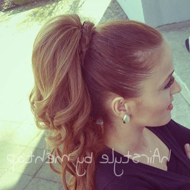 25 Elegant Ponytail Hairstyles For Special Occasions | Page 2 Of 3 For French Braid Ponytail Hairstyles With Curls (View 23 of 25)