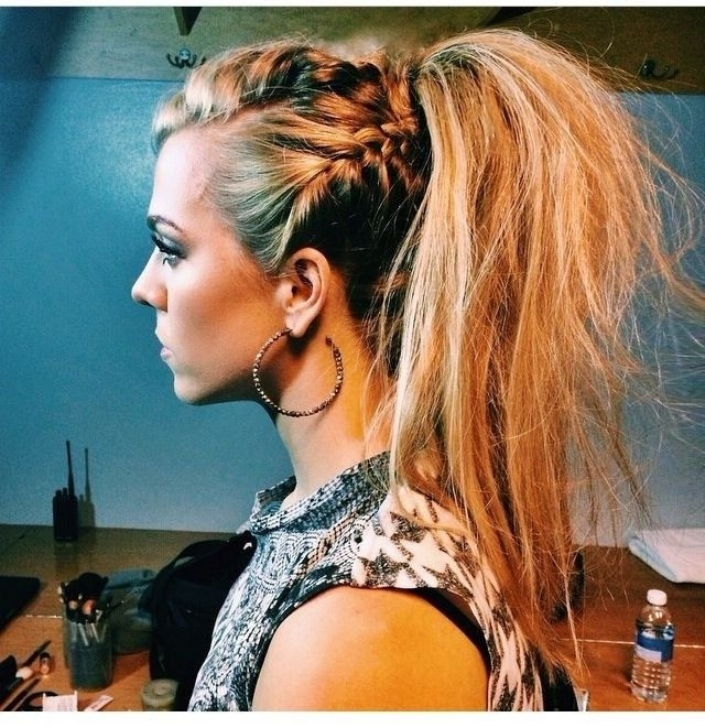 25 Hairstyles For Spring 2018: Preview The Hair Trends Now | Long In Messy Blonde Ponytails With Faux Pompadour (View 9 of 25)