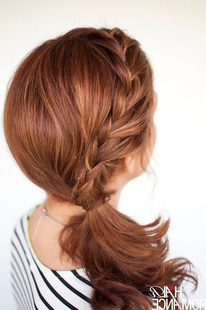 Featured Photo of Side Braid Ponytails For Medium Hair