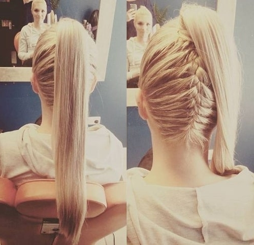 25 Killer French Braids With Ponytails You Can't Miss – Hairstylecamp With Reverse Braid And Side Ponytail Hairstyles (View 22 of 25)