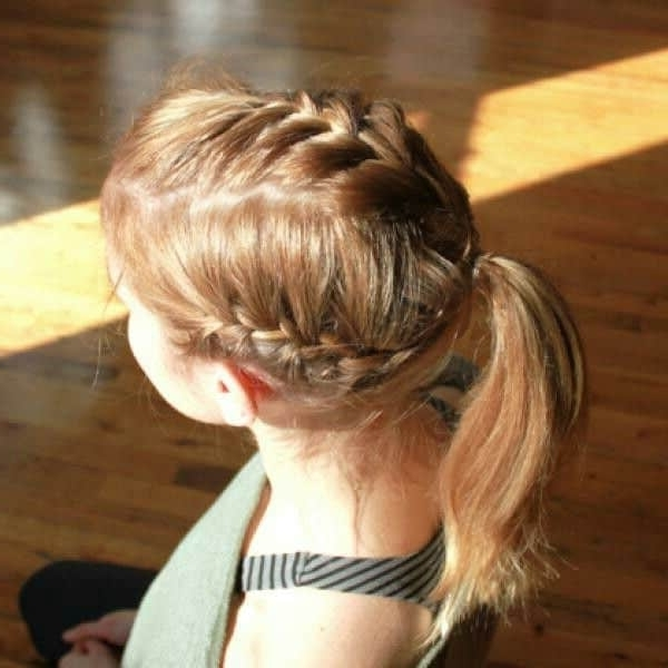 25 Killer French Braids With Ponytails You Can't Miss – Hairstylecamp With Triple Braid Ponytail Hairstyles (View 2 of 25)