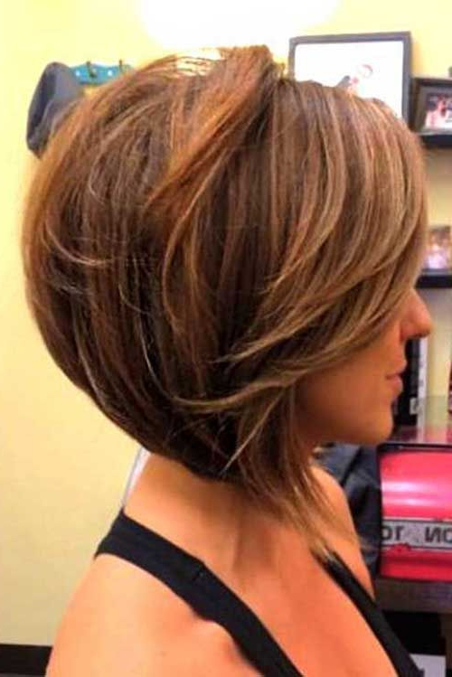 25 Pics Of Bob Hairstyles In 2018   Hottest Hairstyles Throughout Stacked Blonde Balayage Pixie Hairstyles For Brunettes (View 14 of 25)