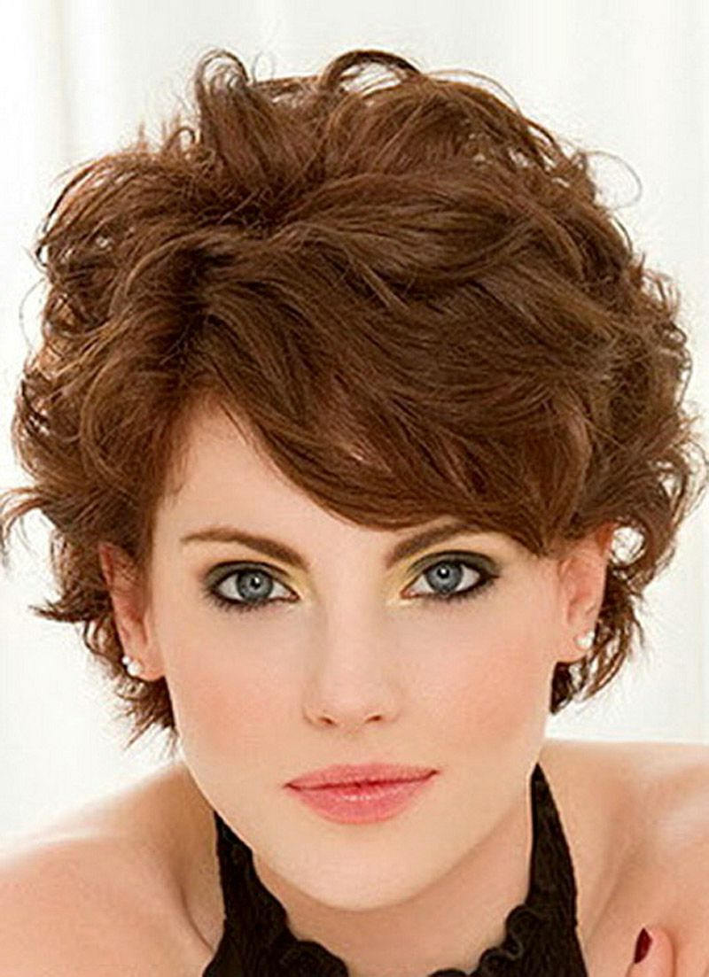 25 Short Hairstyles For Curly Hair To Try In 2016 – The Xerxes Pertaining To Short Hairstyles For Round Faces Curly Hair (View 10 of 25)