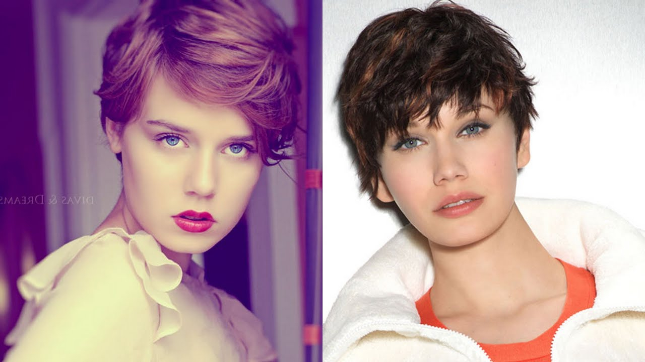 25 Short Hairstyles For Round Faces – Youtube Regarding Short Girl Haircuts For Round Faces (View 23 of 25)