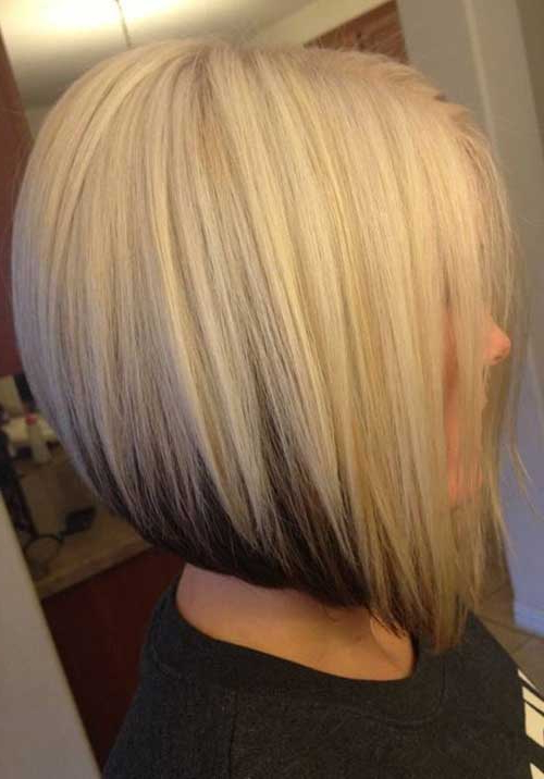 25 Short Inverted Bob Hairstyles | Short Hairstyles 2017 – 2018 Throughout Short Blonde Inverted Bob Haircuts (View 4 of 25)