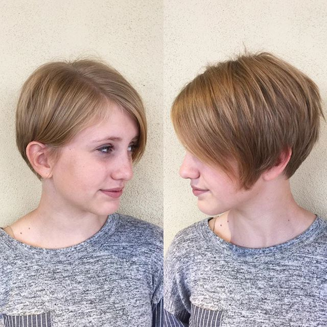 25 Simple Easy Pixie Haircuts For Round Faces – Short Hairstyles Pertaining To Rounded Pixie Bob Haircuts With Blonde Balayage (View 25 of 25)