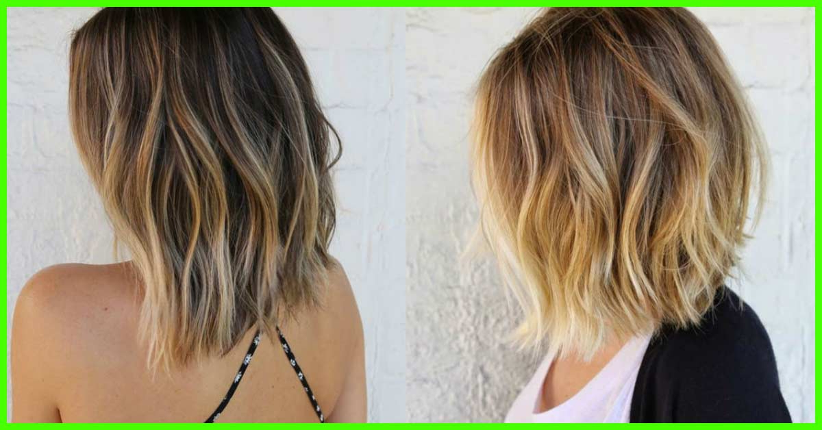 25 Trendy Balayage Looks For Short Hair Inside High Contrast Blonde Balayage Bob Hairstyles (View 11 of 25)