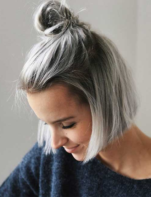 25 Trendy Balayage Looks For Short Hair Pertaining To Long Blonde Pixie Haircuts With Root Fade (View 19 of 25)