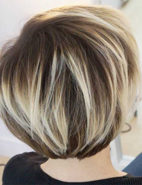 25 Trendy Balayage Looks For Short Hair Regarding Stacked Blonde Balayage Pixie Hairstyles For Brunettes (View 21 of 25)
