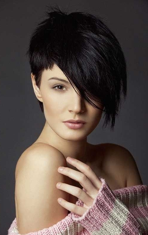 26 Best Short Haircuts For Long Face | Crowning Glory | Pinterest Within Edgy Pixie Haircuts With Long Angled Layers (View 7 of 25)