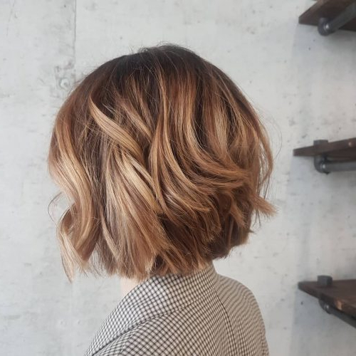 26 Hottest Caramel Brown Hair Color Ideas For 2018 With Layered Caramel Brown Bob Hairstyles (View 6 of 25)