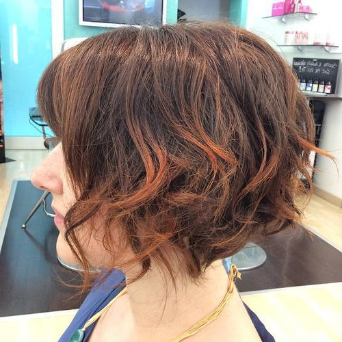 26 Super Cute Bob Hairstyles For Short Hair & Medium Hair – Pretty In Brunette Bob Haircuts With Curled Ends (View 12 of 25)