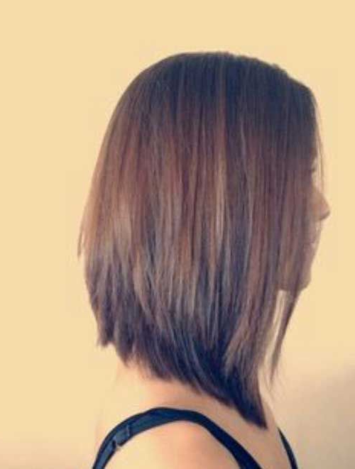 27 Beautiful Long Bob Hairstyles: Shoulder Length Hair Cuts With Straight Cut Bob Hairstyles With Layers And Subtle Highlights (View 19 of 25)