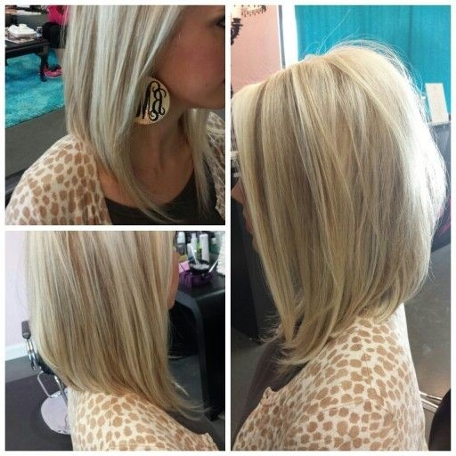27 Beautiful Long Bob Hairstyles: Shoulder Length Hair Cuts With Straight Textured Angled Bronde Bob Hairstyles (View 13 of 25)