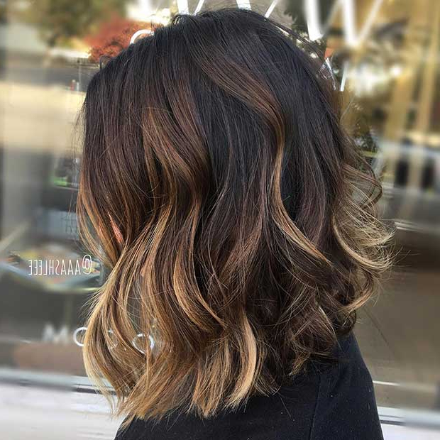 27 Chic Bob Hairstyles And Haircuts For 2017 | Page 2 Of 3 | Stayglam With Inverted Brunette Bob Hairstyles With Feathered Highlights (View 11 of 25)