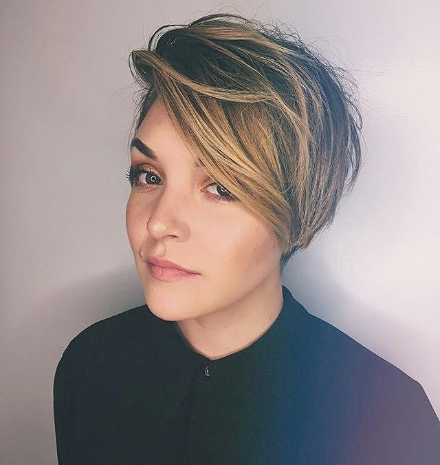27 Hot Pixie Cuts To Copy In 2018   Hairstyle Guru Inside Side Parted White Blonde Pixie Bob Haircuts (View 19 of 25)