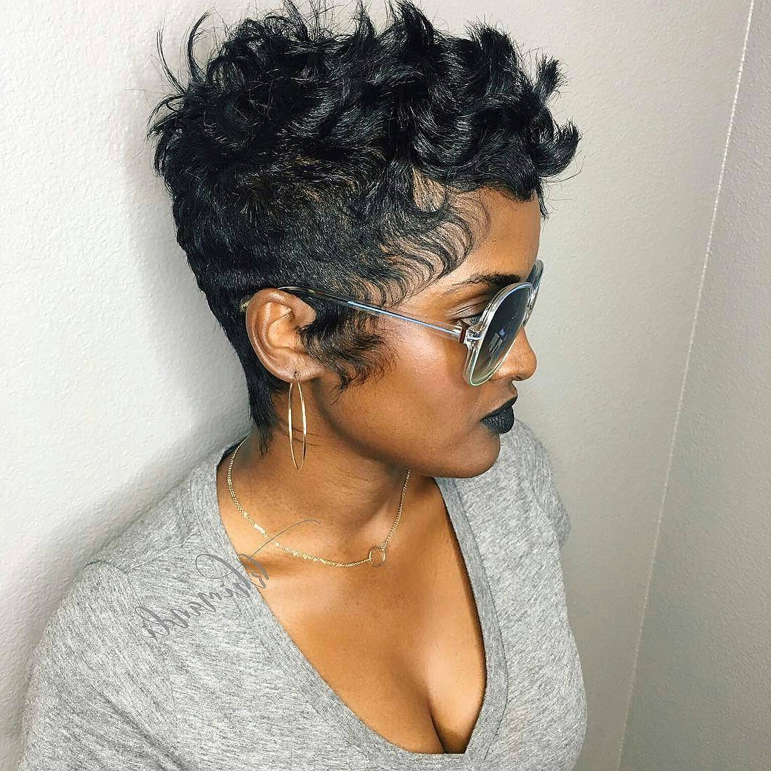 27 Hot Pixie Cuts To Copy In 2018 | Hairstyle Guru Intended For Long Messy Curly Pixie Haircuts (View 18 of 25)