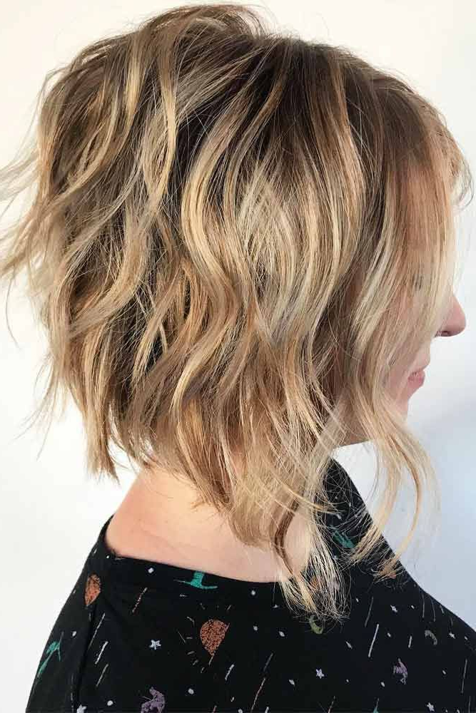 27 Layered Bob Hairstyles For Extra Volume And Dimension | Head Of Throughout Angled Burgundy Bob Hairstyles With Voluminous Layers (View 10 of 25)
